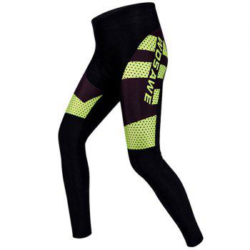 High Quality Polka Dot Pattern Breathable Gel Padded Tight Cycling Pants For Unisex
