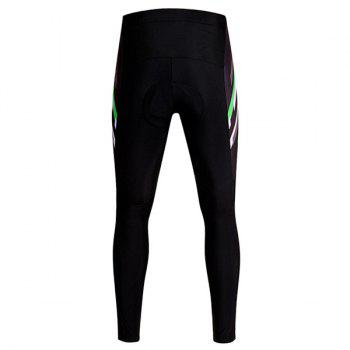 Professional Simple Pattern Breathable Gel Padded Tight Cycling Pants For Unisex - BLACK M