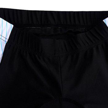 Stylish Stripe Pattern Quick Dry Gel Padded Outdoor Cycling Shorts For Unisex - COLORMIX XL