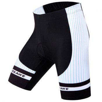 Stylish Stripe Pattern Quick Dry Gel Padded Outdoor Cycling Shorts For Unisex