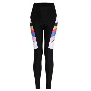 Fashionable Breathable Gel Padded Tight Cycling Pants For Women - BLACK M