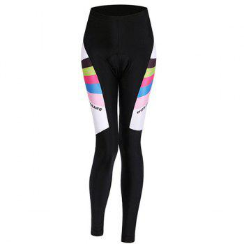 Fashionable Breathable Gel Padded Tight Cycling Pants For Women - BLACK S