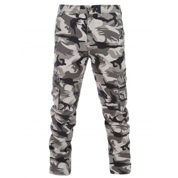 Slimming Camouflage Zipper Fly Straight Leg Men's Pants