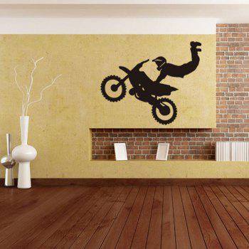 Creative Home Decoration Motorcycle Guy Design Wall Art Sticker