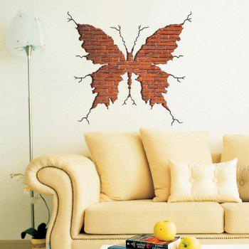 Personality 3D Crack Wall Butterfly Shape Wall Art Sticker