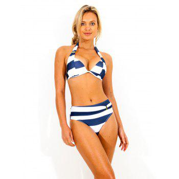 Striped Halter Bikini Swimwear
