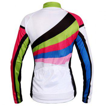 High Quality Breathable Long Sleeve Jersey + Pants Outdoor Cycling Suits For Women - COLORMIX S