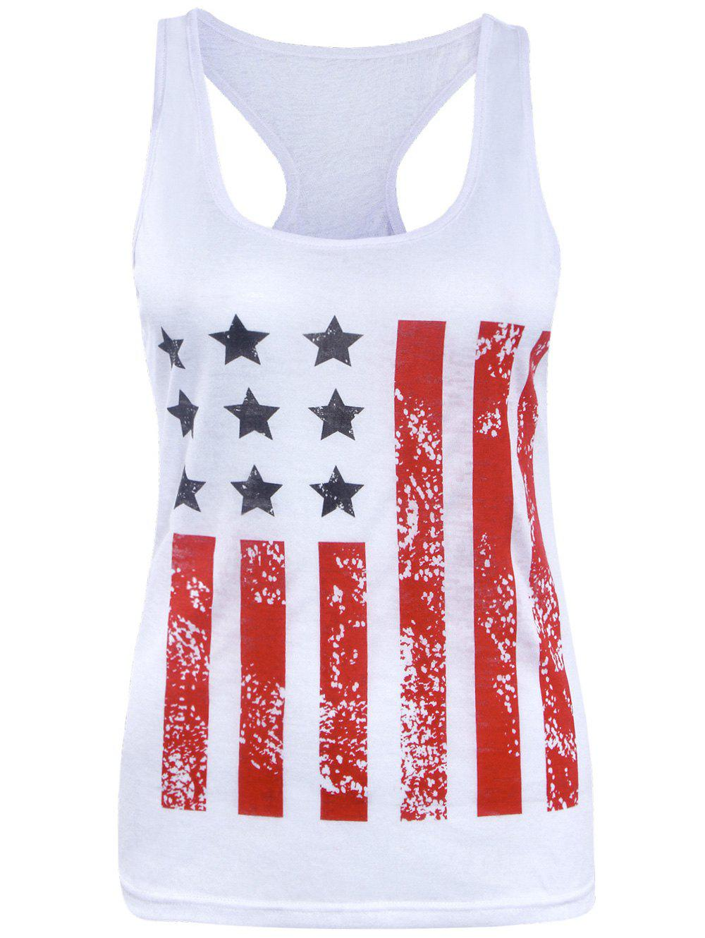 American Flag Racerback Patriotic Tank Top the mountain women s cotton patriotic horse head design tank top shirt blue