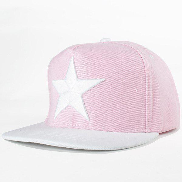 Chic Big Five-Pointed Star Embroidery Fresh Summer Style Women's Baseball Cap - PINK