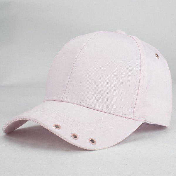 Chic Hollow Out Circle Inlay Summer Casual Style Women's Baseball Hat - PINK