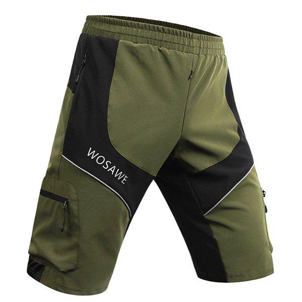 Stylish Multifunction Waterproof Outdoor Sports Cycling Shorts For Men - ARMY GREEN M