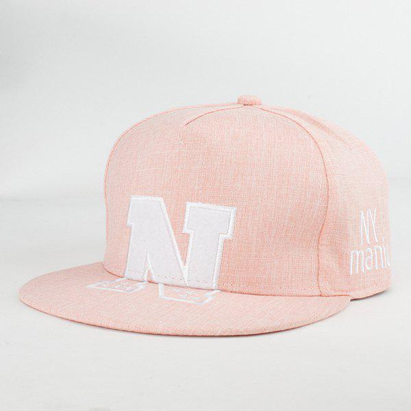 Street Fashion Letter N and Stars Embroidery Fresh Summer Linen Baseball Hat For Women