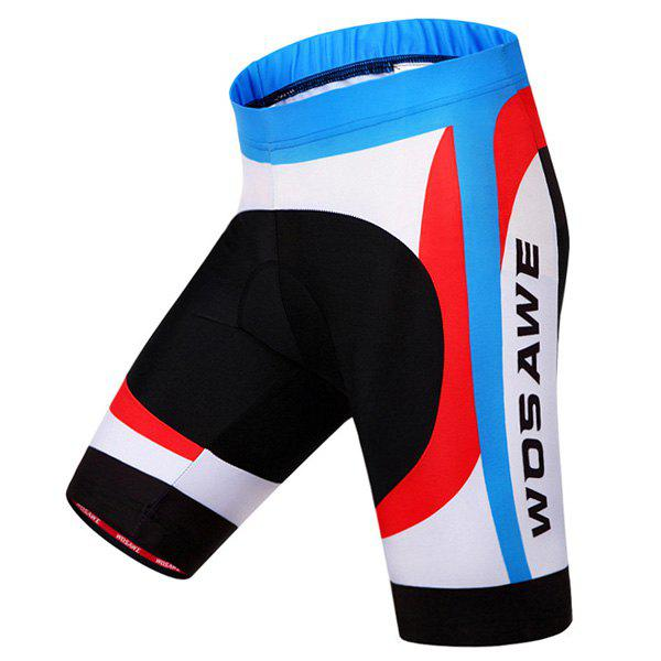 Chic Quality Breathable Gel Padded Cycling Shorts For Men - COLORMIX XL