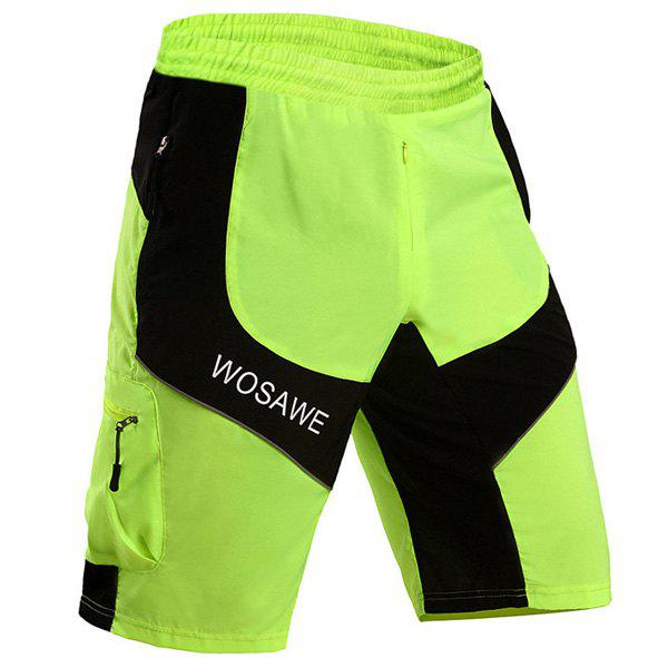 Stylish Multifunction Waterproof Quick Dry Outdoor Cycling Shorts For Men - GREEN 2XL