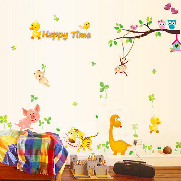 Stylish Kids Room Decoration Monkey Tiger Animals Design Wall Art Sticker kids draw animals
