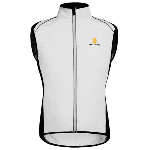 Chic Quality Breathable Windproof Cycling Waistcoat For Unisex - WHITE L
