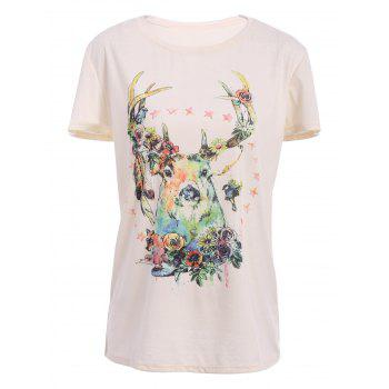 Deer Pattern Cute T-Shirt