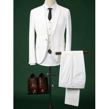 Single Breasted Lapel Long Sleeve Men's Three-Piece Suit ( Blazer + Waistcoat + Pants )
