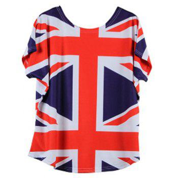 Union Jack Flag Print T Shirt