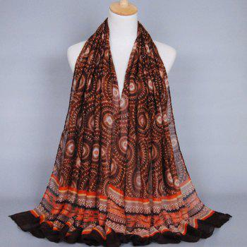 Chic Ethnic Round Beach Throw Pattern Women's Voile Shawl Wrap Scarf