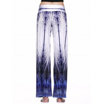 Casual Style Tie Dye Printed Loose-Fitting Pants For Women - COLORMIX 2XL