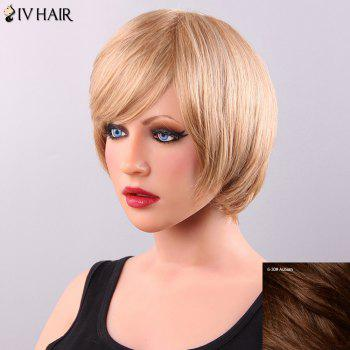 Exquisite Short Straight Side Bang Women's Siv Human Hair Wig