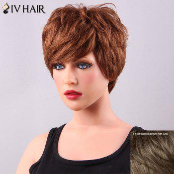 Fashion Short Fluffy Side Bang Women's Siv Human Hair Wig