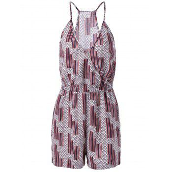 Ethnic Style Women's Loose-Fitting Spaghetti Strap Geometric Print Romper