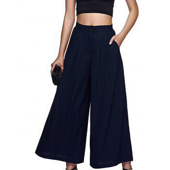 Stylish High-Waisted Solid Color Palazzo For Women