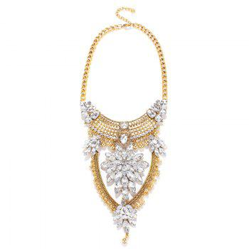 Hollow Out Water Drop Necklace - GOLDEN