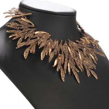 Leaf Alloy Necklace - GOLDEN