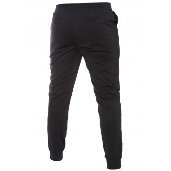 Zipper Embellished Lace-Up Beam Feet Men's Pants - BLACK 2XL