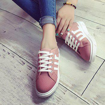 Buy Stylish Color Block Letter Design Women's Sneakers PINK