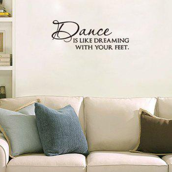 High Quality Dance Room Decoration Quotes Letters Design Wall Art Sticker    BLACK