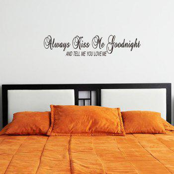 Hot Sale Letters Font Home Decoration Removable Wall Art Sticker