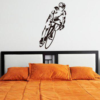 Home Decoration Bicycle Sportsman Wall Art Sticker