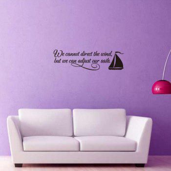 Hot Sale Encouraging Proverbs Sailing Ship Decoration Wall Art Sticker