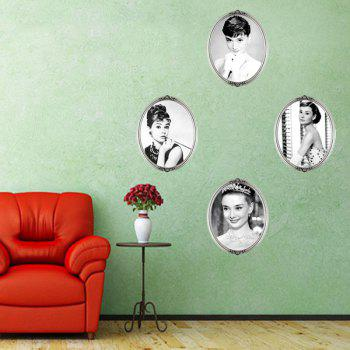 Retro DIY Decoration Audrey Hepburn 4 Photos Design Wall Art Sticker