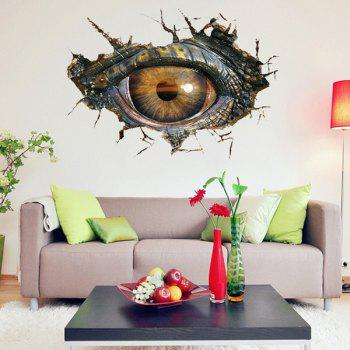 ... Novelty Home Decoration 3D Lifelike Dinosaur Eyes Wall Art Sticker    BLACK GREY ... Part 93