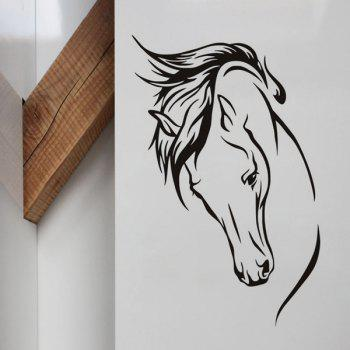 Simple Style Home Decoration Horse Head Design Removable Wall Art Sticker