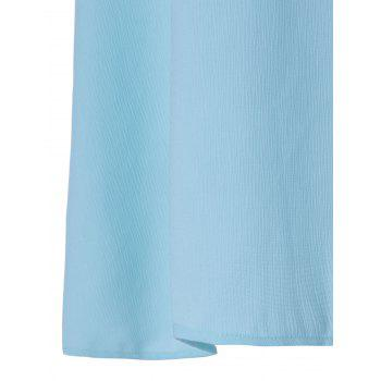 Fashionable Bowknot Decorated Chiffon Tank Top For Women - LIGHT BLUE L