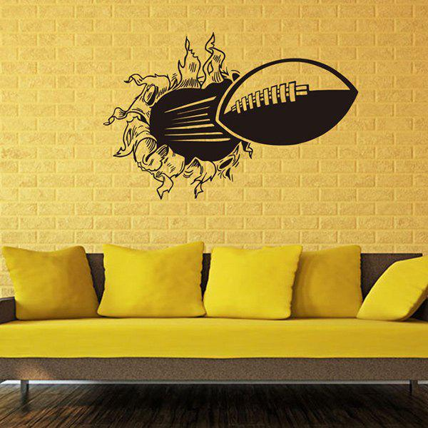 2018 Novelty Home Decoration 3D Wall-Through Rugby Remavable Wall ...