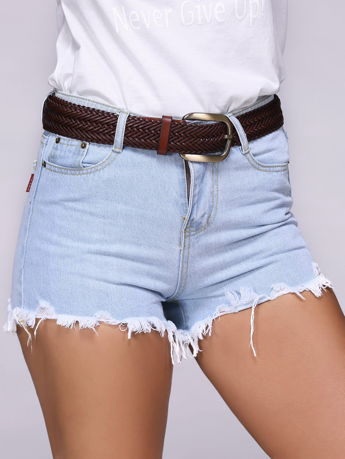 Chic Ripped Destroyed Skinny Women's Denim Shorts