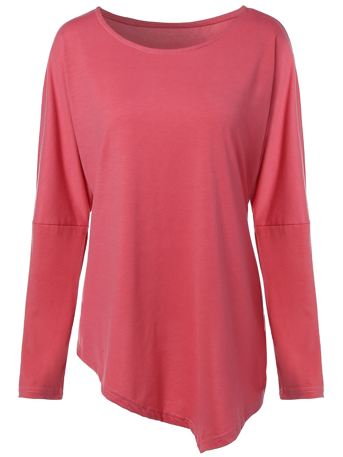 Stylish Scoop Neck Long Sleeve Women's Plus Size Top