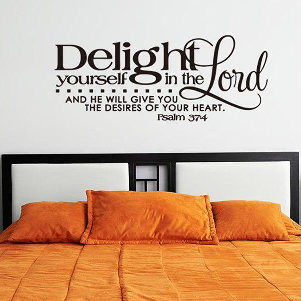 ... Home Decoration Bible Verse Design Wall Art Sticker - BLACK ...