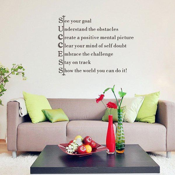 Creative Home Decoration Encouraging Proverbs Design Wall Art Sticker home decoration removable quote wall art sticker