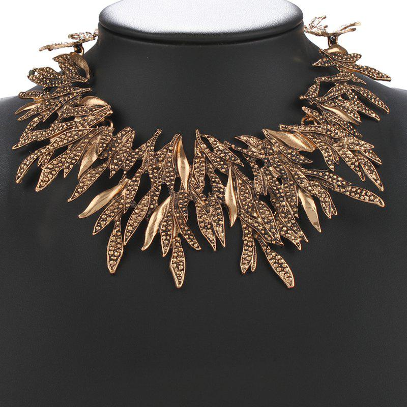 Gorgeous Glow Leaf Alloy Necklace For Women
