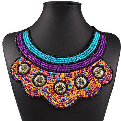 Statement  Multicolor Candy Bib Necklace For Women