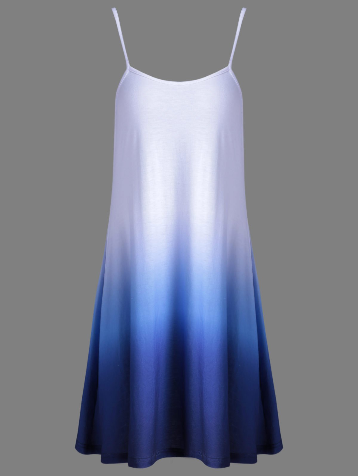 Fashion Ombre Cami Dress For Women - BLUE L