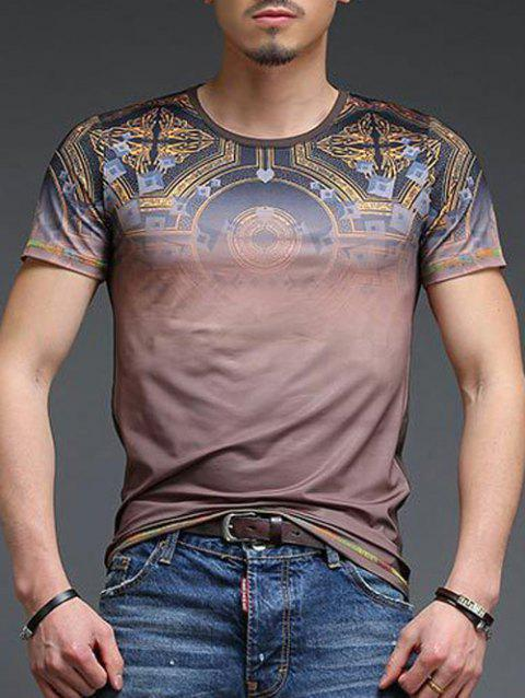 Abstract Pattern Slimming Men's Round Neck Short Sleeves T-Shirt